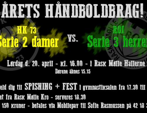 Årets håndboldbrag! ROI's Serie 3-herrer møder HK 73's Serie 2-damer