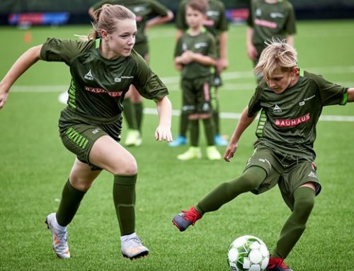 Fodboldskole i Rask Mølle i sommerferien
